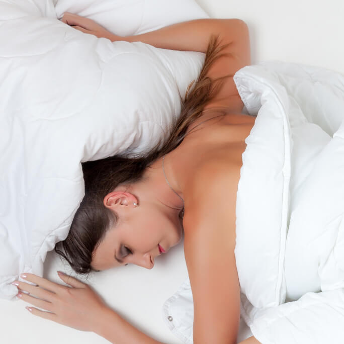Symptoms of hormone imbalance - sleeping woman
